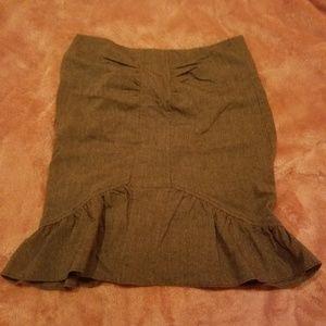 Bebe brown pencil skirt size 0